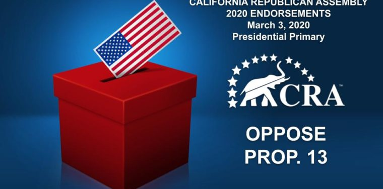 ENDORSEMENTS 2020 – OPPOSE PROP 13