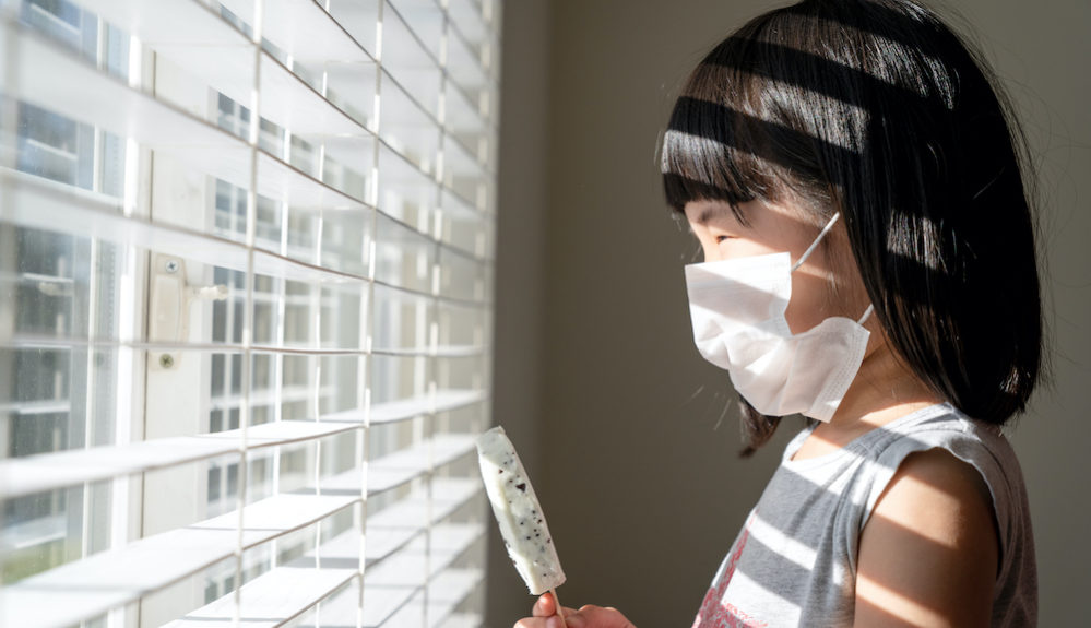 Kid stay at home during summer, no outdoors activity