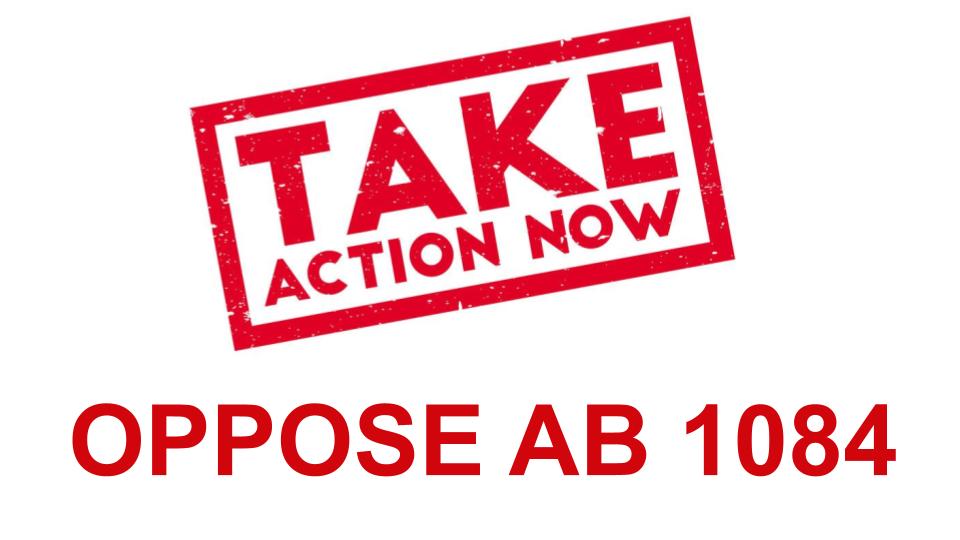 OPPOSE AB 1084